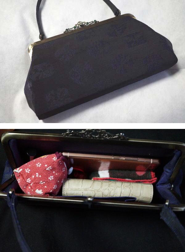 クロコのお財布と着物のばっぐ