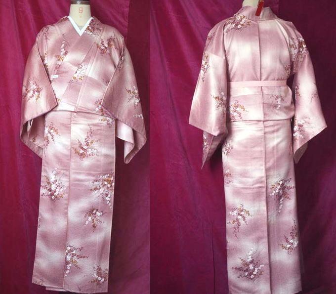 ピンク紫小紋