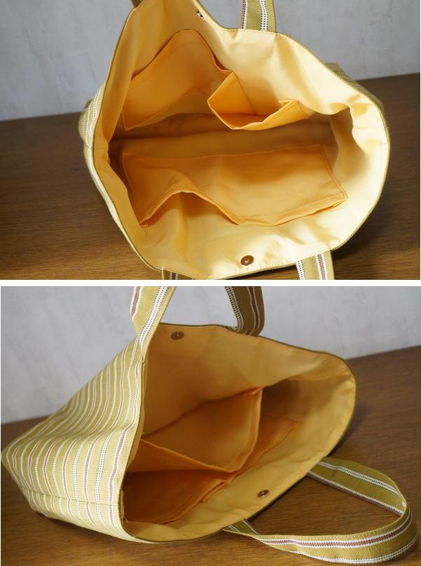 縞バッグ pocket