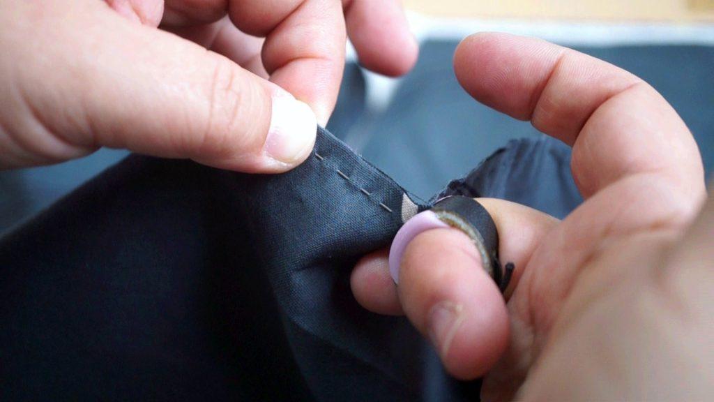 並み縫いの指ぬき