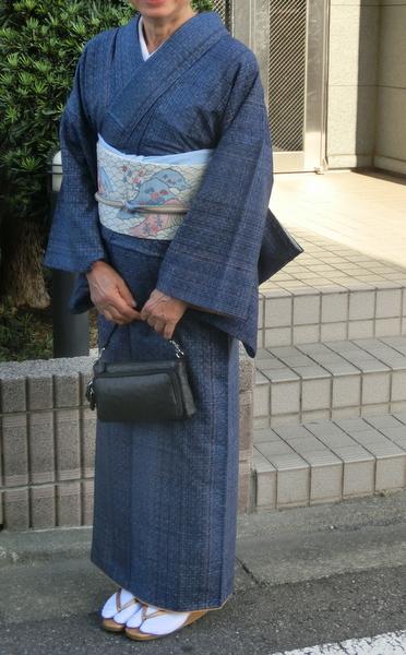 紬の着物ママ