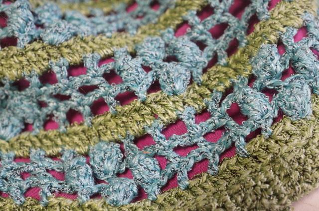 巾着バッグ かぎ編み