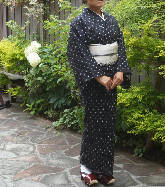 綿麻の着物