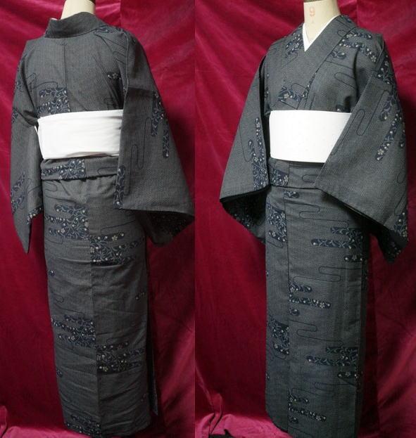 夏紬風の着物