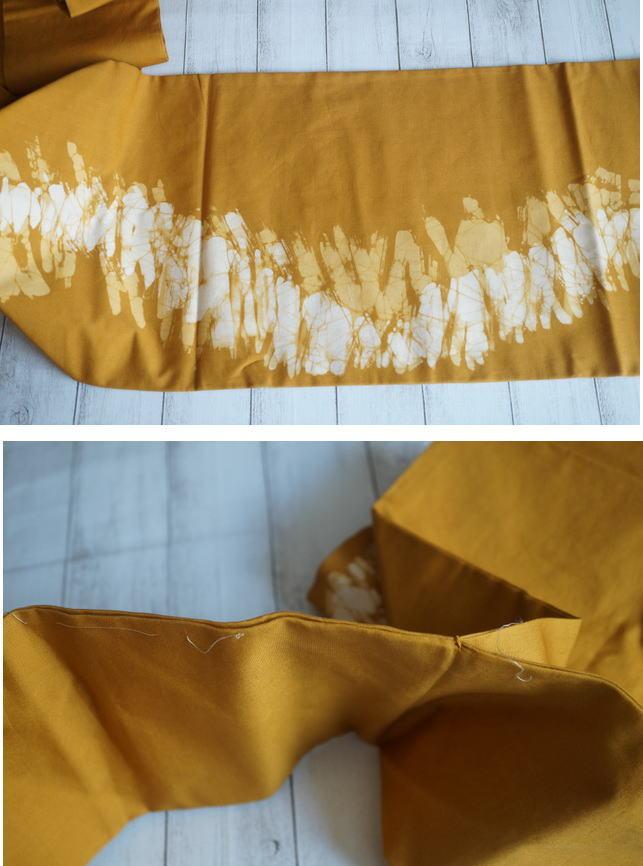 木綿の染め帯