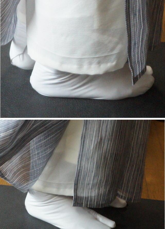 襦袢の裾線