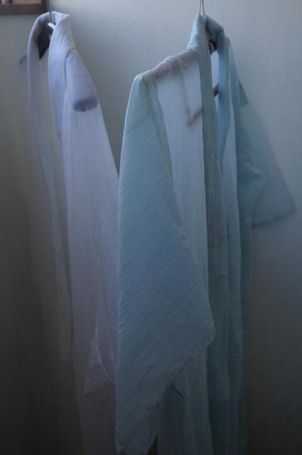 麻の着物と長襦袢