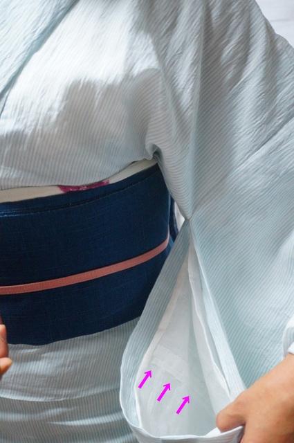 麻襦袢の袖丈