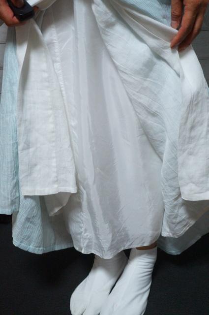 麻の襦袢とベンベルグの裾除け