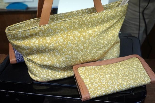 江戸小紋バッグとお財布