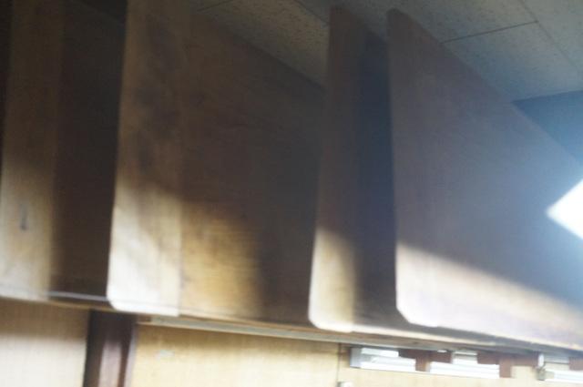 江戸小紋の板の収納