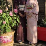 牡丹庭園の着物コーデ