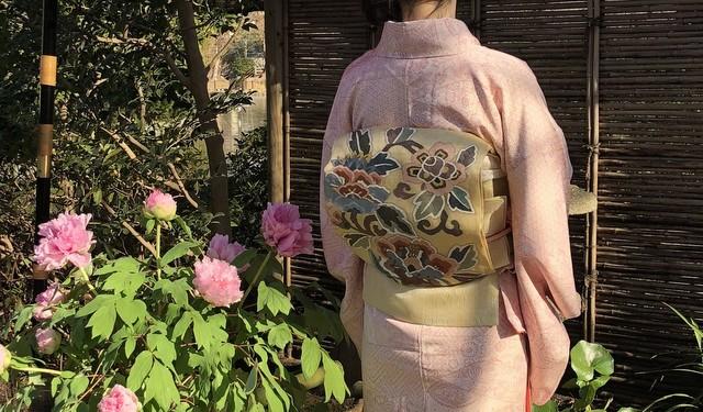 牡丹園の着物と帯