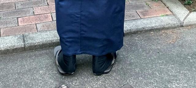 雪駄の履き方