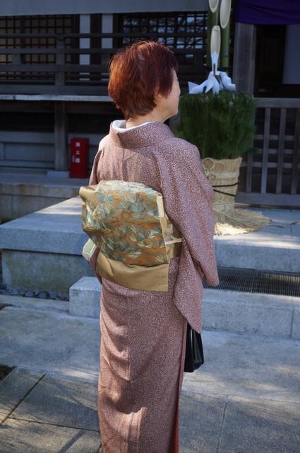 松の刺繍の名古屋帯