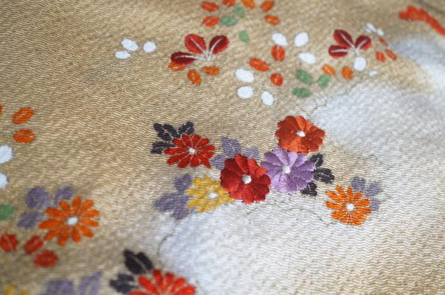 帯揚げの刺繍