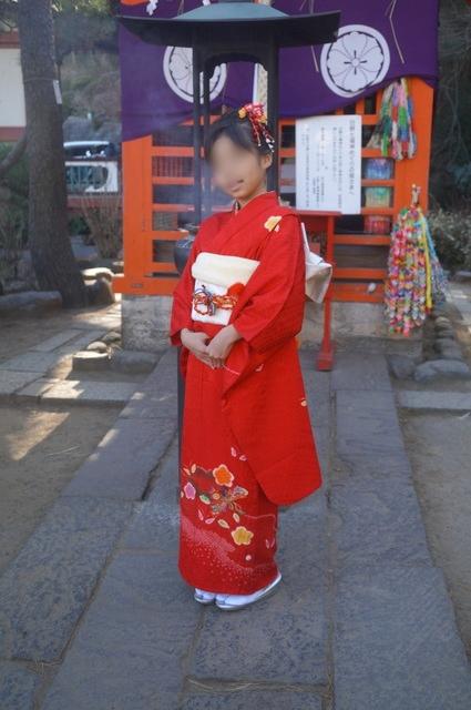 小学生お正月の着物
