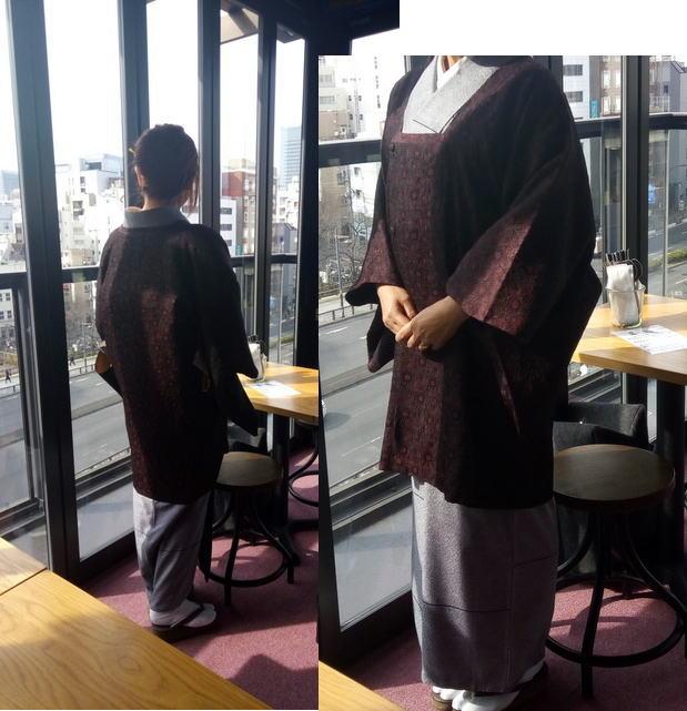膨れ織りコート