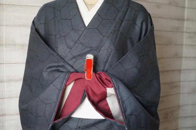 大島紬っぽい着物