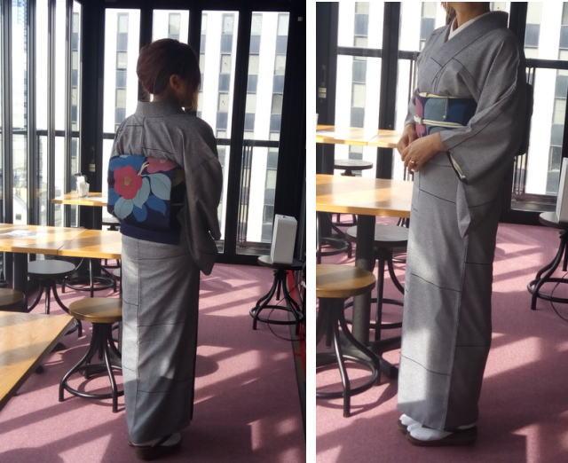 小紋の着物着画