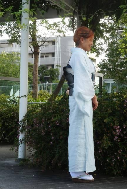 麻の着物と帯