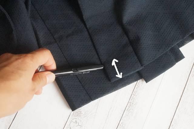 衿の縫込み