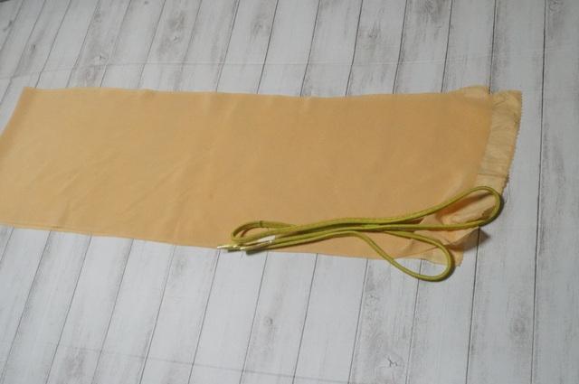 帯揚げ黄味色2