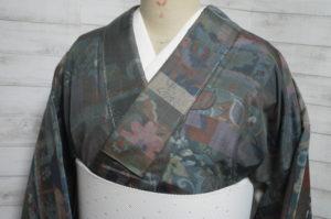 紬の更紗風