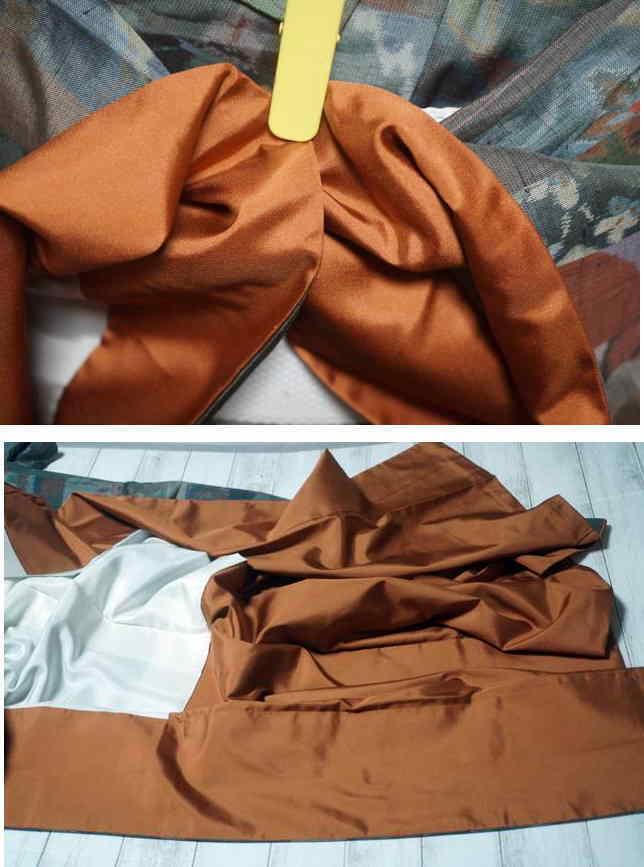 紬の裾回し