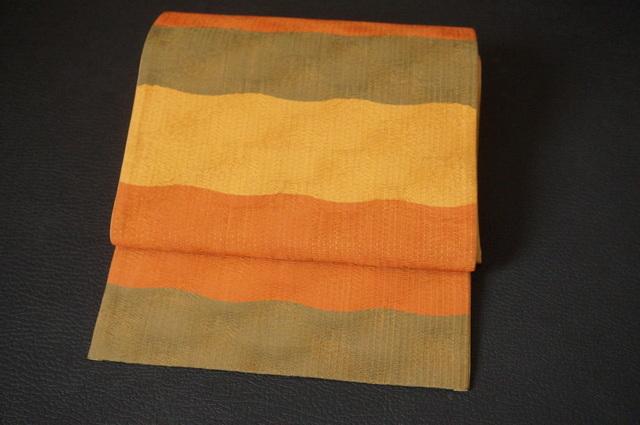 洒落袋帯・横段・刺子