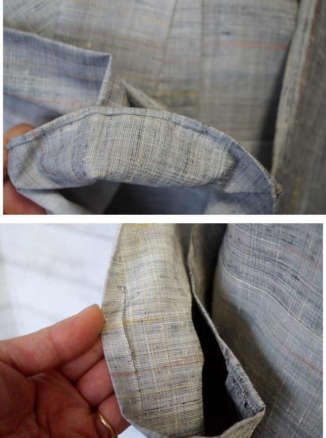 小千谷紬の袖口と袂