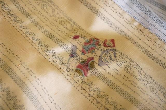 単衣の紬の柄2