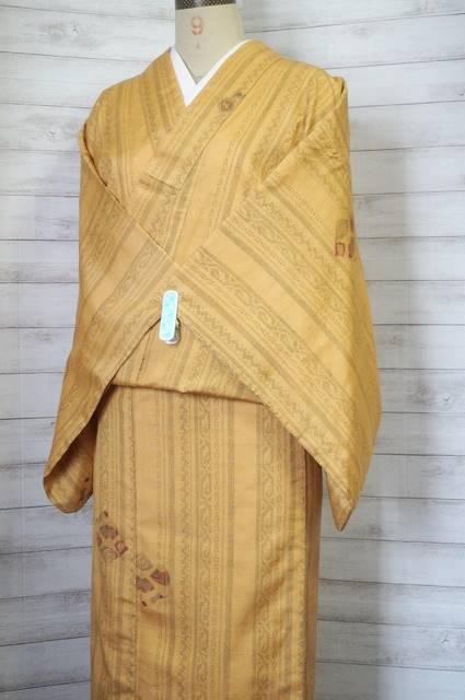 【単衣・紬】袷の紬の胴裏&八掛外して、単衣にしてみた♪ついでに洗った~