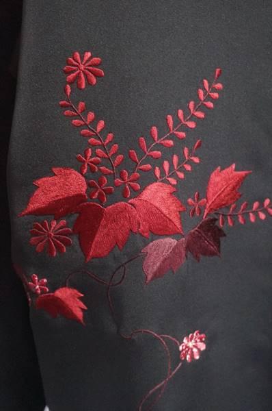 刺繍の羽織アップ