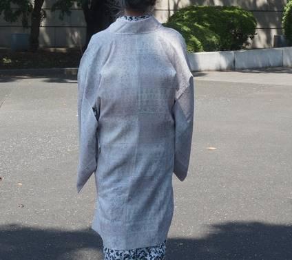 夏の紋紗コート