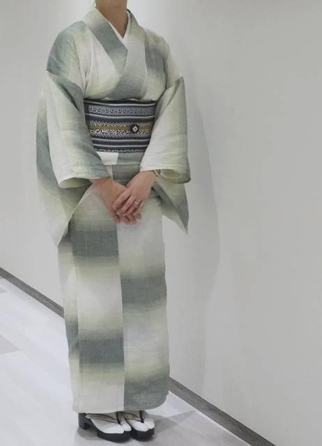 近江縮の着物