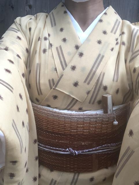 夏琉球絣自撮り