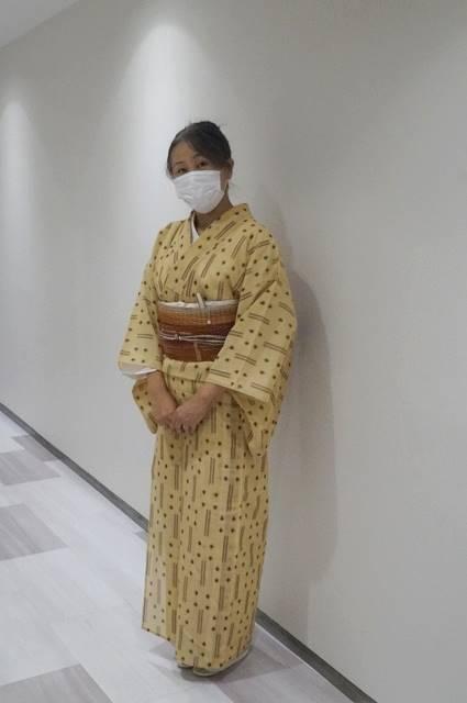 夏琉球絣着たところ