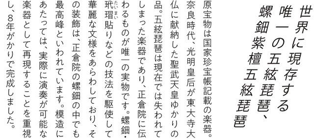 模造 螺鈿紫檀五絃琵琶の資料