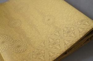 君子菊紋袋帯