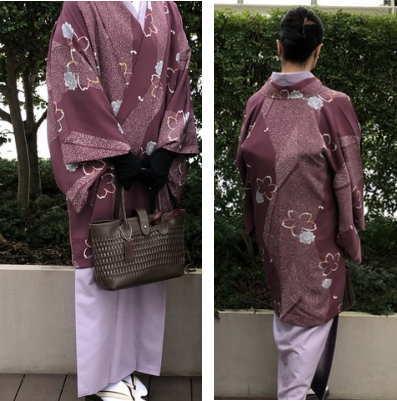 紫色道中着コート