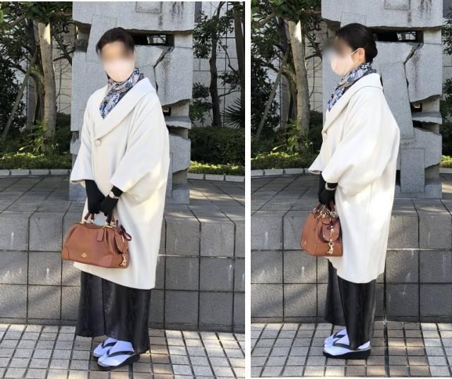 へちま衿―ウールのコート