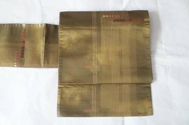 引き箔ゴールド袋帯
