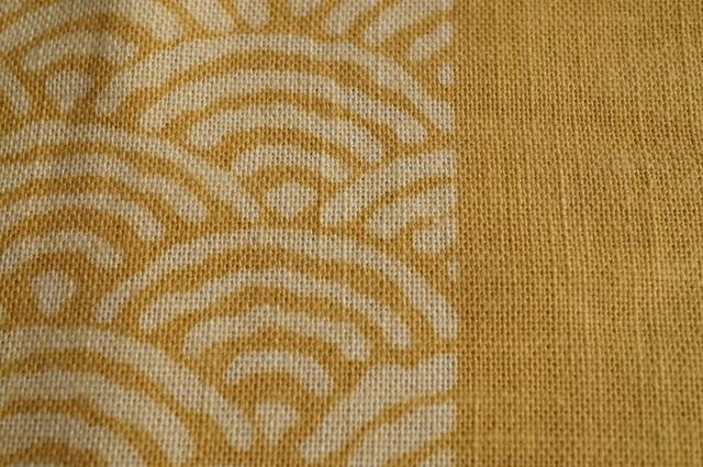 青海波の木綿生地