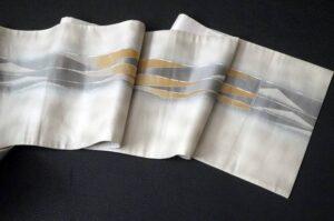 玉篠銀箔袋帯