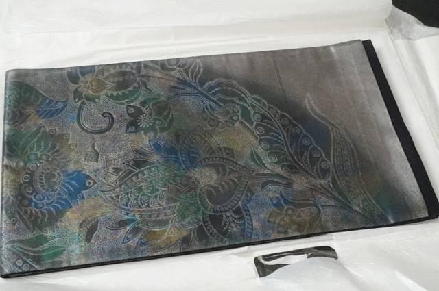 玉篠引き箔更紗の帯