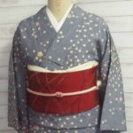 洗える着物と帯のセット