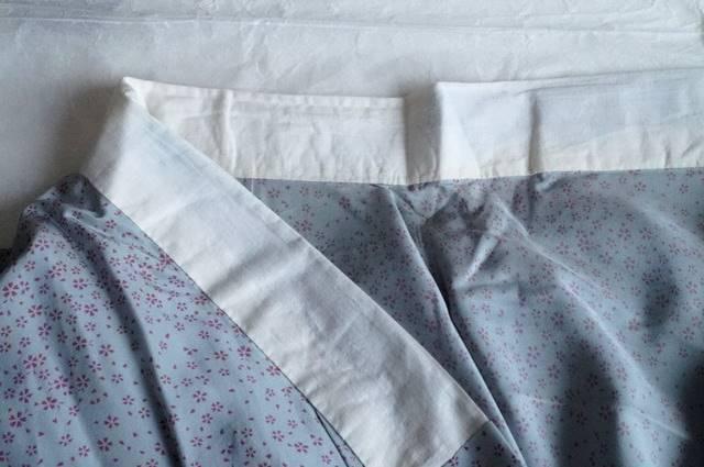 桜柄長襦袢ブルーグレー衿