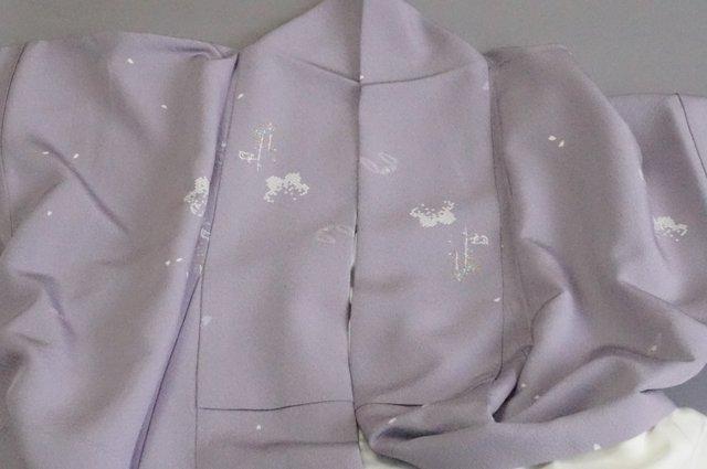小紋の着物ことり衿